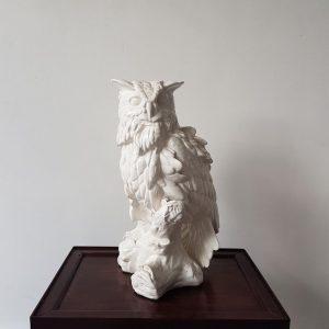 A White Porcelain Owl