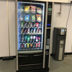 Italian Necta Sfera Combination Vending Machine With Plumbed in Water Cooler