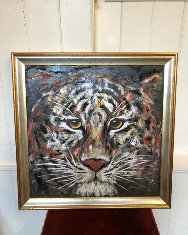 Oil Painting Of Tiger On Canvas