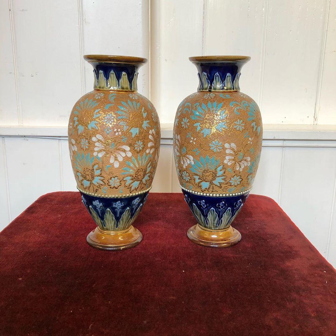 Pair Of Dalton Vases1 Ft Height