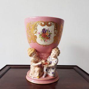 Pink Continental Cherub Vase