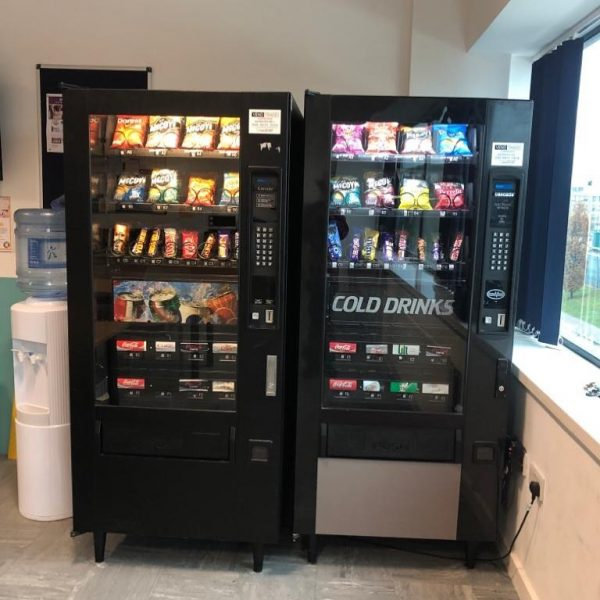 Two American Snack & Can Vending Machines